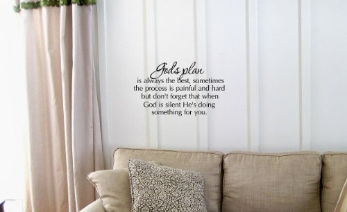 Cliquez sur le plan God's'est toujours le meilleur muraux avec citations et inscription Home Decor Sticker en vinyle