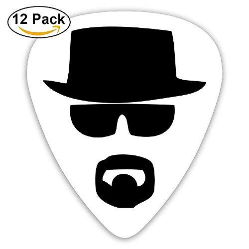 Celluloid Guitar Picks Acoustic Guitar Plectrums,Print A Black Top Hat,12 Pack
