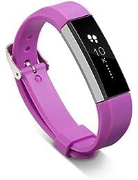 Malloom Recambio pulsera bandas correas para Fitbit Alta pulsera brazalete + Hebilla (morado)