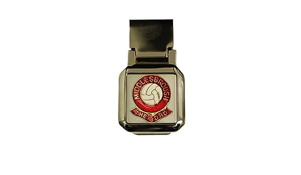 Money Clip-Middlesbrough The Boro Football Club Hinged Chrome Money Clip