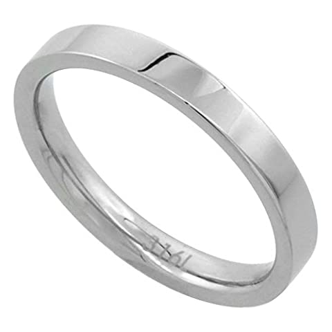 Surgical Steel 3mm Comfort Fit Wedding Band Thumb / Toe Ring High Polish,
