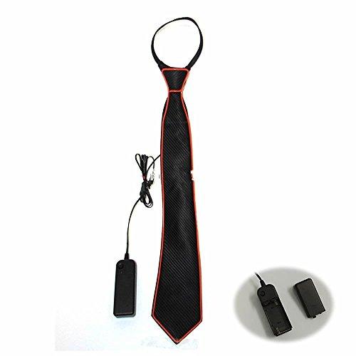 D Leuchtende Krawatte für Männer (ohne Batterie) - Orange, 45x8cm ()