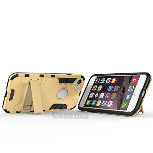 iPhone 8 / iPhone 7 Hülle, Cocomii Iron Man Armor NEW [Heavy Duty] Premium Tactical Grip Kickstand Shockproof Hard Bumper Shell [Military Defender] Full Body Dual Layer Rugged Cover Case Schutzhülle A Rose Gold