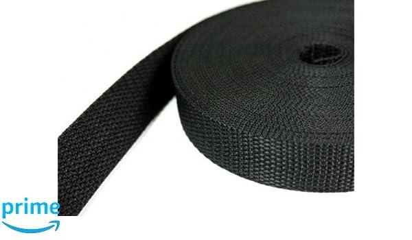 2mm stark UV 25mm breit schwarz 10m PP Gurtband