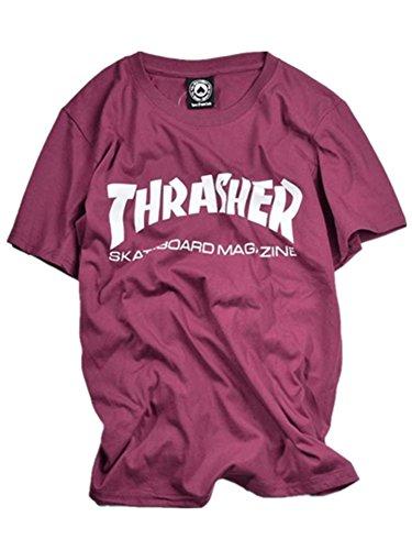 BOMOVO Herren THRASHER T-Shirt Mit V-Ausschnitt, 5er Pack Violett