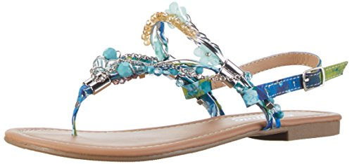 Buffalo Shoes 313560 Lgjh-1632 4# , Sandali a Punta Aperta Donna, Blu (Blue 24), 42 EU