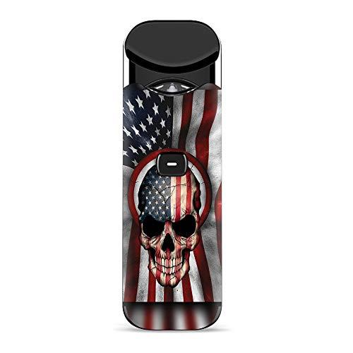 It 's A Skin Aufkleber für Smok Nord Pod System Vape Sticker Sleeve Cover/America Skull Military USA Murica -