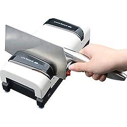 GYJ Affûteur de Couteaux électrique Professionnel 3 en 1, Machine à affûter Les Couteaux Ciseaux Tournevis, affûtage en 2 étapes, Gain de Place