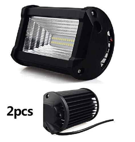 (2 PCS) Modifizierte Autoscheinwerfer, 72W High Power 2200LM Motorrad-Scheinwerferlampe Lampe Licht für Straße Trucks Off-Road modifizierten Scheinwerfer Rooflight Scheinwerfer Auto-Scheinwerfer Mit -