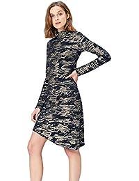FIND Women's Metallic Camouflage Jacquard Dress