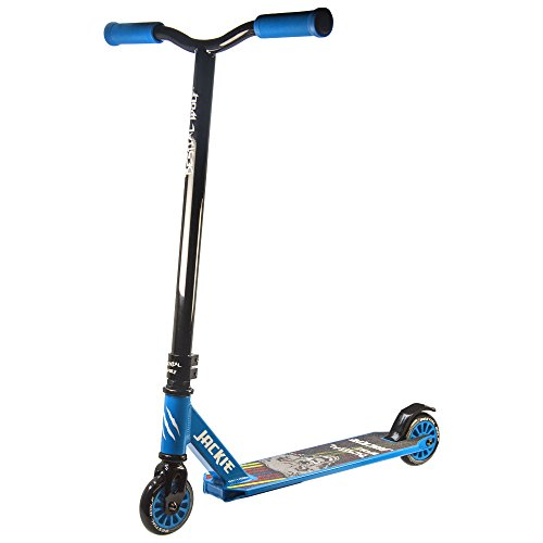JACKIE-BLUE Bestial Wolf Pro Scooter freestyle patinete nivel Inciacion, hasta 10 años, ideal para hacer trucos profesionales muy resistente