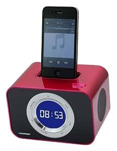 Blaupunkt iClock 10 Uhrenradio mit Apple Apple iPhone/iPod Docking  rot