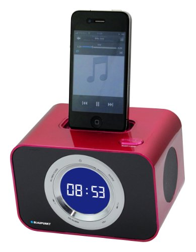 Dock Ipod Radio Fm (Blaupunkt iClock 10 Uhrenradio mit Apple Apple iPhone/iPod Docking  rot)