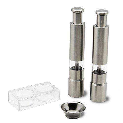 Salz- und Pfeffermühle-Set mit Ständer & Trichter - zum Pumpen