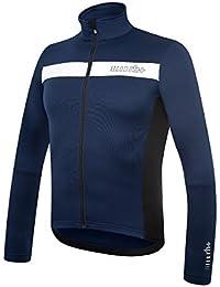 RH + Logo Thermo Jrs, camisetas (Ciclismo) Hombre, Blue-White, XL