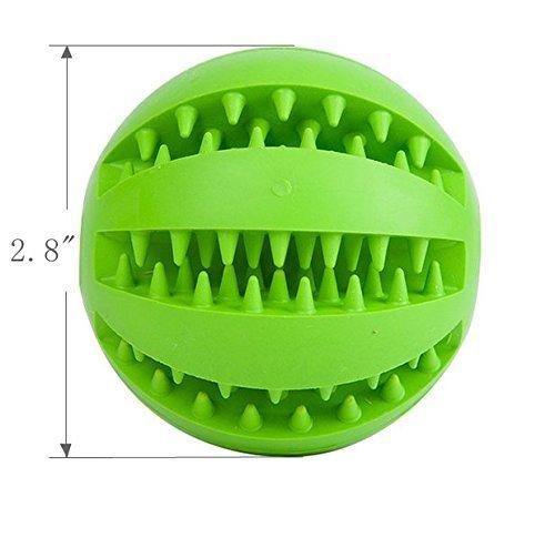 Mascota Juguete Pelota para Perro Gato, gato perro tratar de limpieza de dientes dispensador Ball Juguete interactivo para IQ formación, suave de goma masticación bola mascota juguete no tóxico Duable