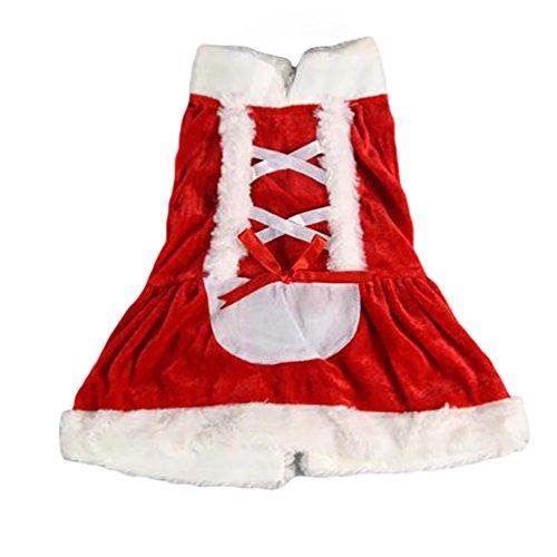 und-Pullover Haustier-Pullover Anzug Sankt-Hündchen-Kleidung Rot Kleid XS (Rote Katze Anzug)