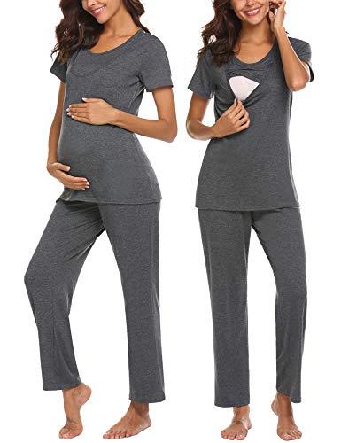 UNibelle Damen Still-Nachthemd/Pyjama/Morgenmantel