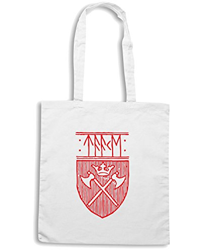 T-Shirtshock - Borsa Shopping T1054 taake religioni celtic Bianco
