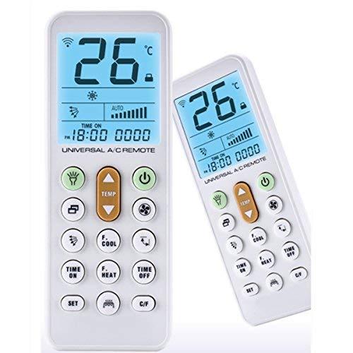 GOLD COLOR AC Remote Control For Carrier, Trane, Toshiba, Sanyo,  Mitsubishi, Fujitsu, Hitachi, Haier, LG, York, Midea, Panasonic, Sharp,  Samsung,