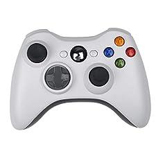 Spiel Wireless Controller,CamKing Xbox 360 Wireless Bluetooth Controller Neue Drahtlose Entfernten Pad-Game-Controller für Microsoft Xbox 360 PC/Windows 7 XP Whit Joypad (Weiß)(Weiß)