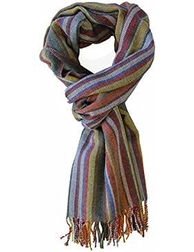 Sciarpa a righe multicolore 100% lana