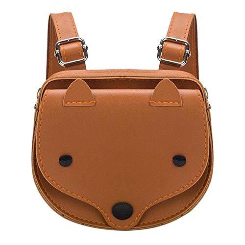 ZIHUINI Paket 3D Tier Fuchs Mini Netter Rucksack Mode Kleine PU Cartoon Kinder Kleinkind Umhängetasche Berühmte Design Feste Tragbare Mädchen Schultasche