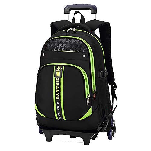 6-Rad Laptop Laptop Trolley Rucksack Business Gepäcktasche - geeignet für 15,6-Zoll-Laptop-Green -