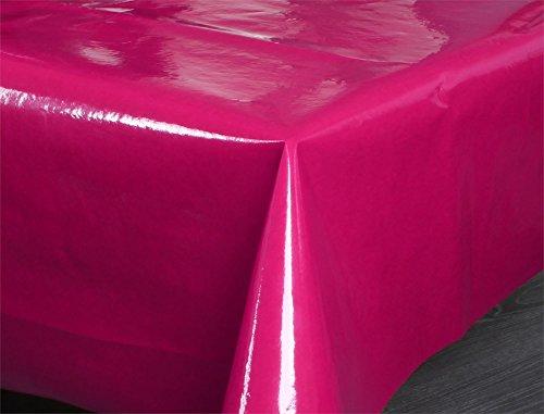 Wasser- und Schmutzabweisende Tischdecke Gartentischdecke für den Innen- und Außenbereich Farbe Pink Größe Rund 130 cm