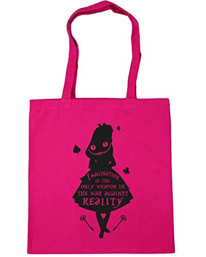 hippowarehouse-imagination-is-the-only-weapon-in-the-war-against-reality-quote-tote-shopping-gym-bea