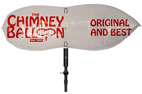 Chimney Balloon Kit pour cheminées tubées rondes + tube gratuit Conduits 18-23 cm