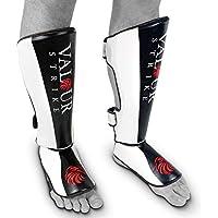 Protectores de piernas y pies, espinilleras profesionales Valour Strike®, para MMA, UFC, Muay Thai, boxeo, Kickboxing, rendimiento, mujer hombre Infantil, color Black,White,Red, tamaño Large