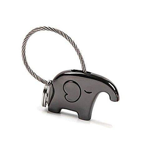 Impression 1 PCS Llavero Llavero elefante Una llave conveniente para guardar los accesorios Llavero de metal Accesorios de joyería (B)
