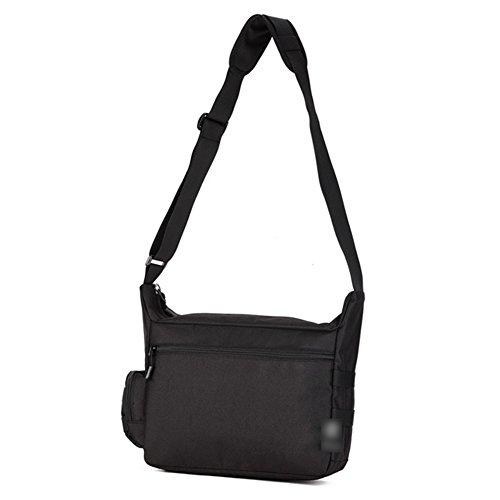 YAAGLE A 4 Schultasche groß Fassungsvermögen Reisetasche wasserdicht Herren IPAD Kuriertasche 14 zoll Laptoptasche Schultertasche Schwarz