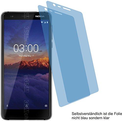 2X ANTIREFLEX matt Schutzfolie für Nokia 3.1 Displayschutzfolie Bildschirmschutzfolie Schutzhülle Displayschutz Displayfolie Folie