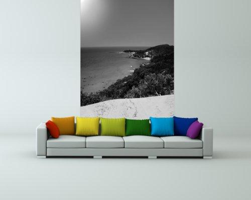 bilderdepot24-papier-peint-intiss-oasis-islande-paradise-australie-noir-et-blanc-65x100-cm-pte-inclu