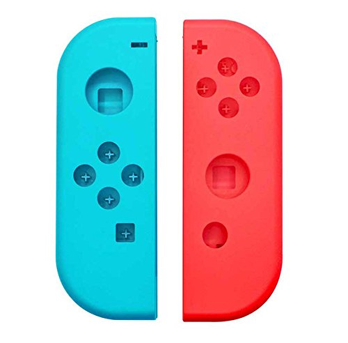 Price comparison product image New Face Plate FULL Housing Shell for Nintendo Switch NS Controllers Joy-Cons(Red&Blue)