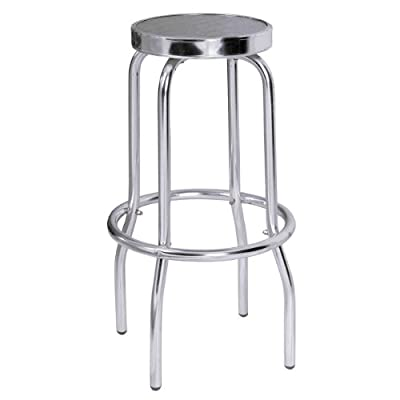 Premier Housewares Aluminium Bistro Bar Stool