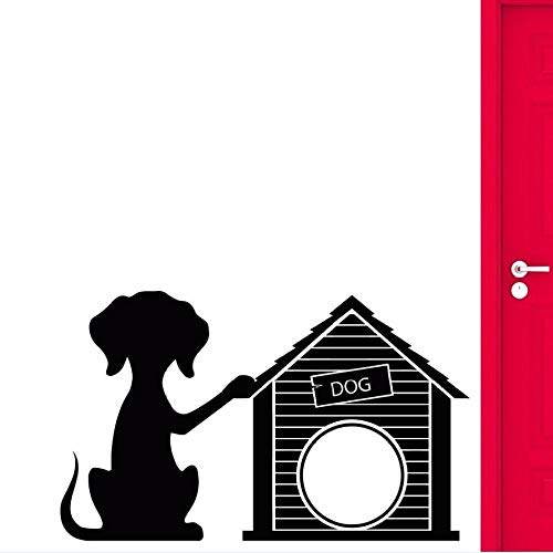 woyaofal Vinyl Wandtattoo Hund Welpe Haustier Wandaufkleber Dekoration Doghouse Pet Shop Wand Vinyl Aufkleber Hunde Salon Wandbild Ay 93x57 cm