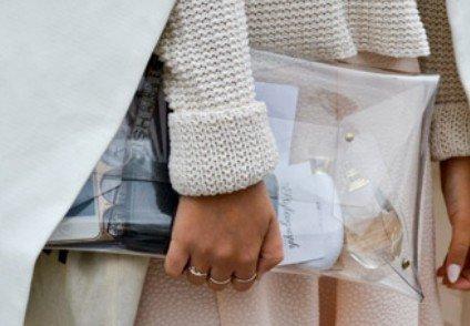 Flada, Damen Clutch Stile Trasparente 2 M Stil 1