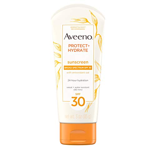 Aveeno Aveeno Protect + Hydrate Sunscreen Lotion with Broad Spectrum Protection SPF 30, Active Naturals Oat, Sweat and Water Resistant Sun Protection, 3 oz - Active Sweat