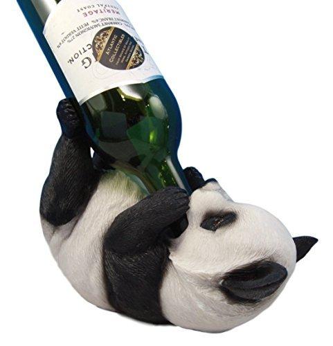 Atlantic Sammlerstücke Liebenswürdig, Bambus GIANT PANDA BÄR Dekorative Wein Flasche Halter Rack Figur -