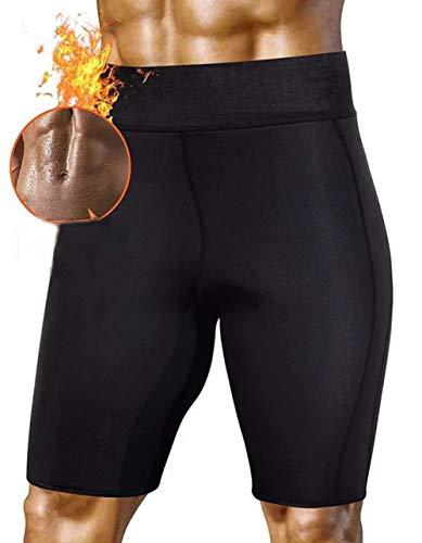 HuntDream Pantalones de Sauna para el Sudor Caliente para Hombres Pantalones Cortos para Adelgazar Thermo Shaper para Perder Peso Neopreno Quemador de Grasa
