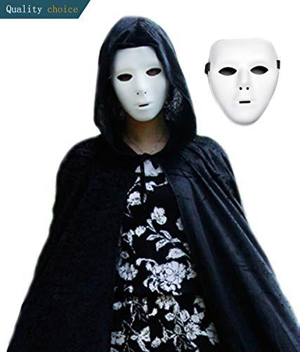 Kostüm Charleston Dance - Halloween PVC Maske Ritter Ghost Dance Hip Hop Maske Maskierte Tänzerin Party Performing (a)