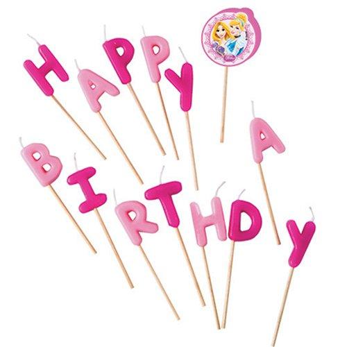 falksson Disney Princess Happy Birthday Kerzen, 14 Kerzen, Tortendeko
