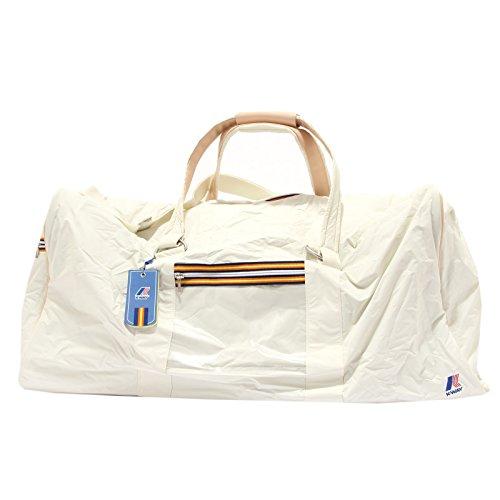 4360S borsone da viaggio K-WAY avorio/rosa multitasche travel bag unisex Avorio