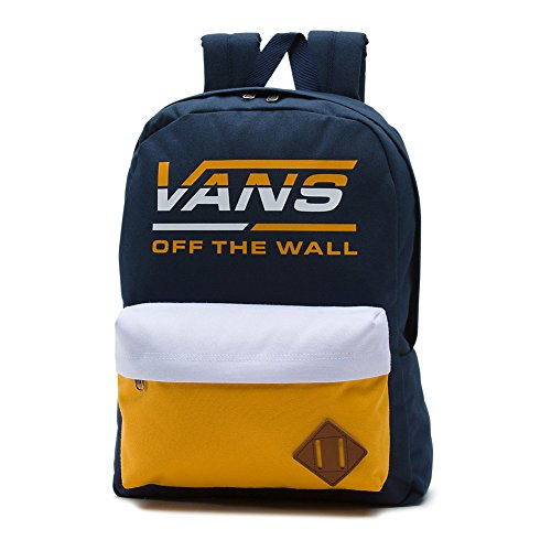 Vans Old Skool II Backpack Sac à dos, 42 cm, 22 l, Bleu/Doré