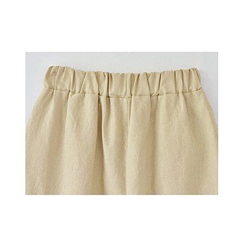 Damen Shorts Freizeit Elastische Taille knielang mit Tunnelzug #9500 Beige