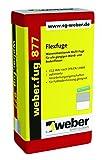 weber.fug 877 Flexfuge zementgrau 15kg universell einsetzbarer Fugenmörtel