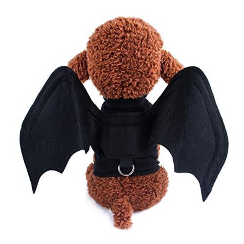 Katze Kostüm Halloween Nägel - Kapian Haustier Halloween Kostüm Hund Katze Bat Spinne Cosplay Fledermaus Umgewandelt Hundebekleidung Pet Stoff Weste Geschirre Brustgurt